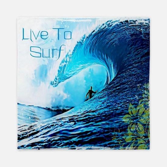 Live To Surf Queen Duvet