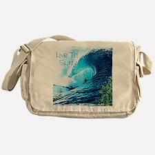 Live To Surf Messenger Bag