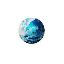 Live To Surf Mini Button