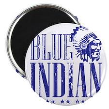 Blue Indian Head Dress Vintage Magnet