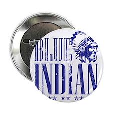 """Blue Indian Head Dress Vintage 2.25"""" Button"""