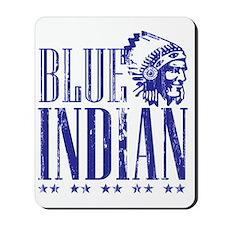 Blue Indian Head Dress Vintage Mousepad
