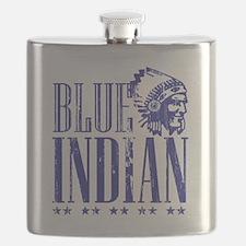 Blue Indian Head Dress Vintage Flask