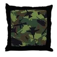 USMC Military Camouflage Throw Pillow