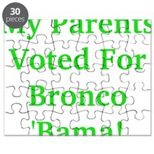 My Parents Voted For Bronco Bama Puzzle