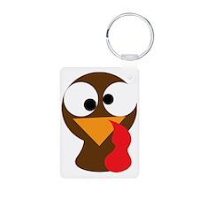 Turkey Face, Gobble Gobble Keychains