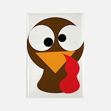 Turkey Face, Gobble Gobble Gobble Rectangle Magnet