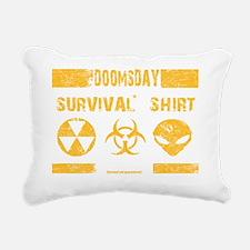 Doomsday Survival Shirt Rectangular Canvas Pillow