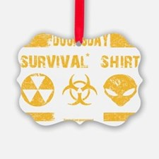 Doomsday Survival Shirt Ornament