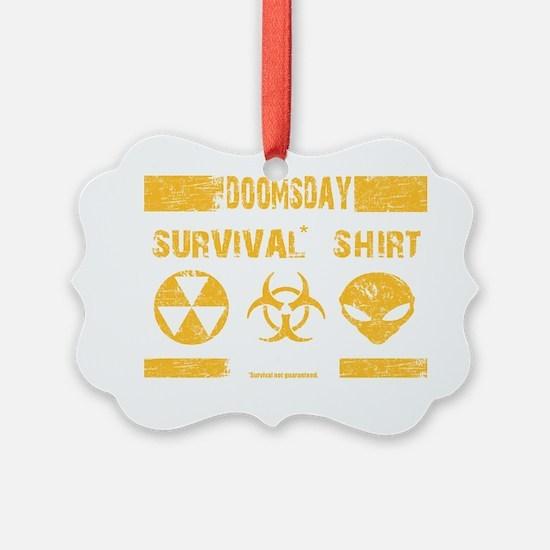 Doomsday Survival Shirt Ornament