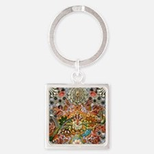 Forms of Nature 1 Square Keychain