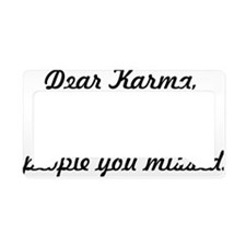 Dear Karma License Plate Holder