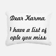 Dear Karma Rectangular Canvas Pillow