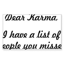 Dear Karma Decal