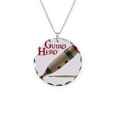 Guiro Hero Necklace Circle Charm