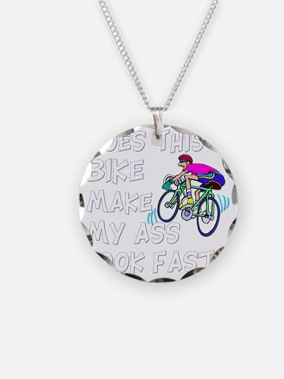 Funny Bike Saying Necklace Circle Charm