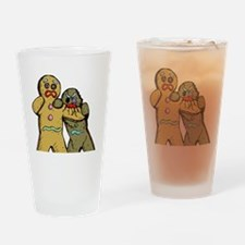 Gingerbread Zombies Drinking Glass