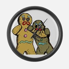 Gingerbread Zombies Large Wall Clock