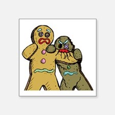 "Gingerbread Zombies Square Sticker 3"" x 3"""