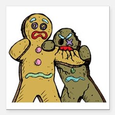 """Gingerbread Zombies Square Car Magnet 3"""" x 3"""""""