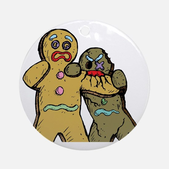 Gingerbread Zombies Round Ornament
