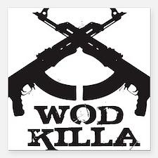 "WOD Killa Square Car Magnet 3"" x 3"""