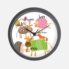 Silly Animals Wall Clock
