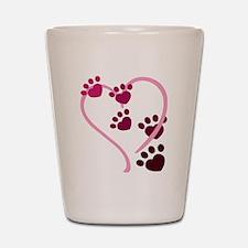 Dog Paws Shot Glass