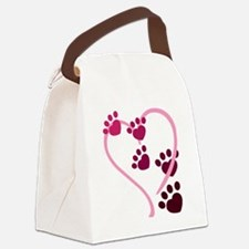 Dog Paws Canvas Lunch Bag