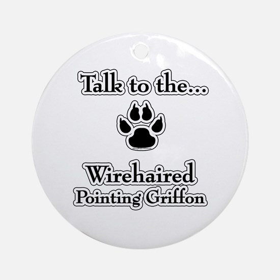 Wirehaired Talk Ornament (Round)