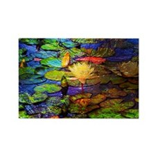 Stained Pond 11x17 Rectangle Magnet