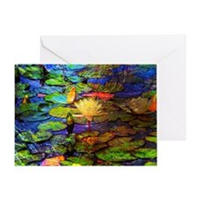 Stained Pond 11x17 Greeting Card