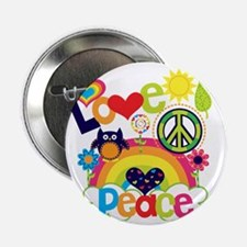 """Love and Peace 2.25"""" Button"""