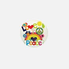 Love and Peace Mini Button
