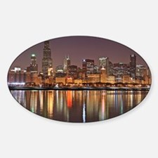Chicago Reflected Sticker (Oval)