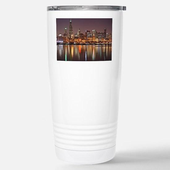 Chicago Reflected Stainless Steel Travel Mug