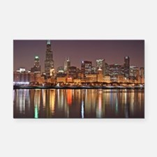 Chicago Reflected Rectangle Car Magnet