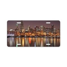 Chicago Reflected Aluminum License Plate