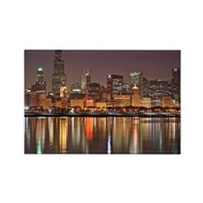 Chicago Reflected Rectangle Magnet