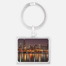 Chicago Reflected Landscape Keychain