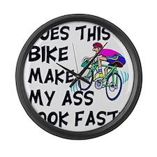 Funny Bike Saying Large Wall Clock