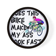 Funny Bike Saying Wall Clock