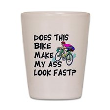 Funny Bike Saying Shot Glass