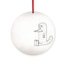 Creative Platypus Round Ornament