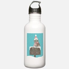 Owl Christmas Wishes Water Bottle