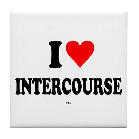 I Love Intercourse,PA. Tile Coaster