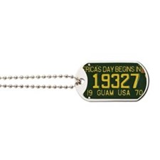 1973 Guam License Plate Dog Tags