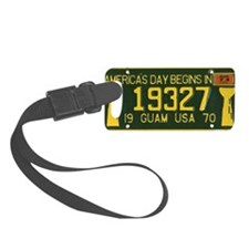 1973 Guam License Plate Luggage Tag