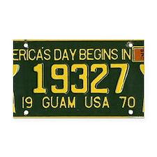 1973 Guam License Plate Rectangle Car Magnet
