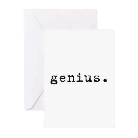 Genius (black) Greeting Cards (Pk of 10)